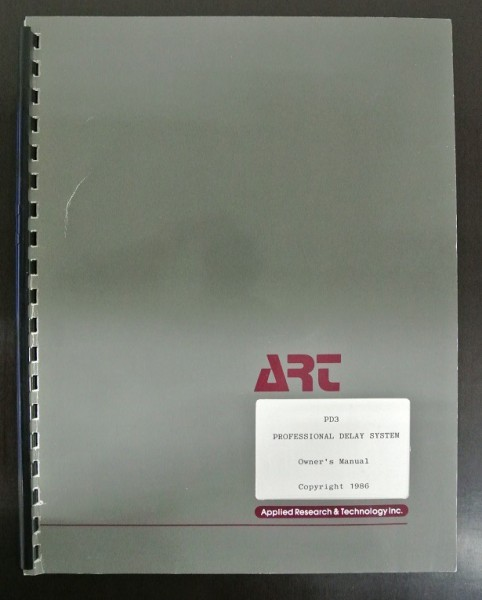 ART PD3 Professional Delay System Owners Manual 1986