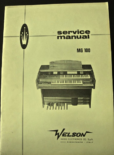 Welson Modelle MG 100 Service Manual