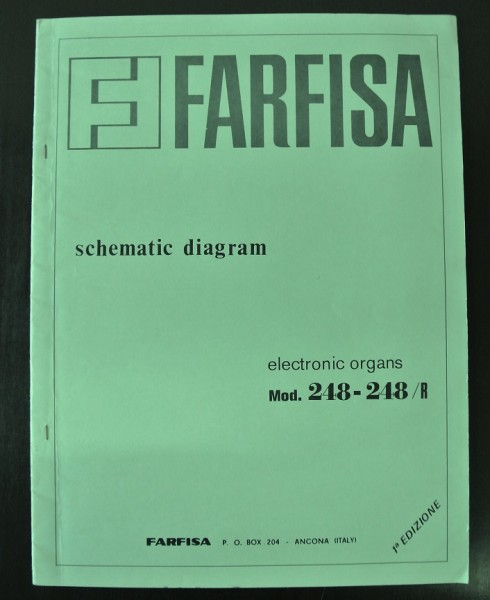 Farfisa Mod 248 - 248 / R 1a Edition Schematic Diagram