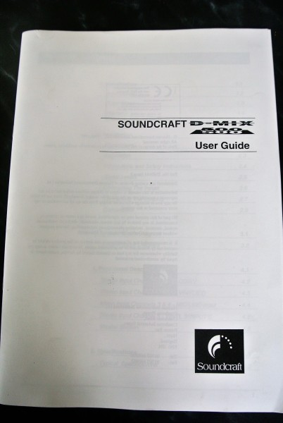 Soundcraft D-Mix 500 User Guide